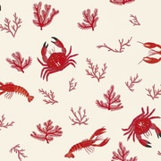 Coordonne Crustaceos 33' x 18.9'' Wallpaper Roll; Hueso