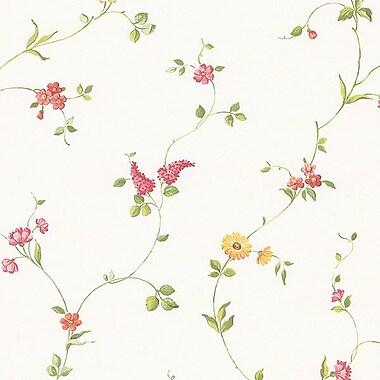 Norwall Wallcoverings Inc Fresh Kitchens V 32.7' x 20.5'' Multi Floral Trail Wallpaper