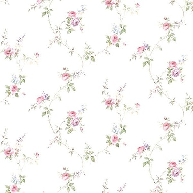 Norwall Wallcoverings Inc Floral Prints II 32.7' x 20.5'' Laura's Trail Wallpaper