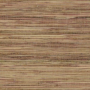 Norwall Wallcoverings Inc Decorator Grasscloth II 24' x 36'' Fine Raw Jute Wallpaper; Red / Tan