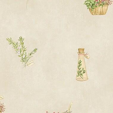 Norwall Wallcoverings Inc Fresh Kitchens V 32.7' x 20.5'' Fresh Herbs Wallpaper