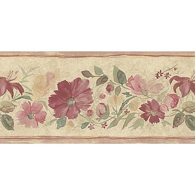 Norwall Wallcoverings Inc Floral Prints II 15' x 5.25'' Fluted Floral Border Wallpaper