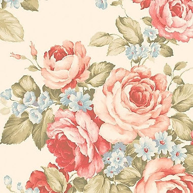 Norwall Wallcoverings Inc Abby Rose III 32.7' x 20.5'' Grand Floral Wallpaper Roll