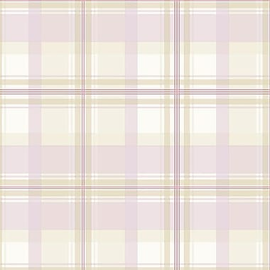 Norwall Wallcoverings Inc Abby Rose III 32.7' x 20.5'' Plaid Wallpaper; Purple / Pink / Cream