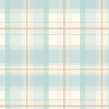 Norwall Wallcoverings Inc Abby Rose III 32.7' x 20.5'' Plaid Wallpaper; Dark Blue / Cream / Red