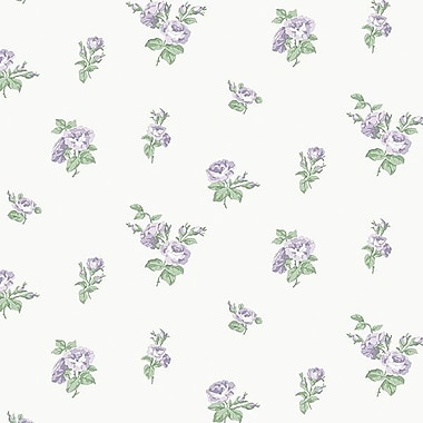 Norwall Wallcoverings Inc English Florals 32.7' x 20.5'' Small Rose Wallpaper Roll