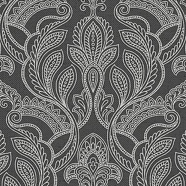 Norwall Wallcoverings Inc Vintage Damask 32.7' x 20.5'' Paisley w/ Linen Wallpaper