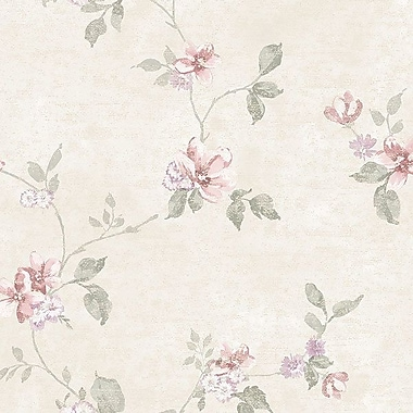 Norwall Wallcoverings Inc VIntage Damask 32.7' x 20.5'' Raised Ink Small Trail Wallpaper