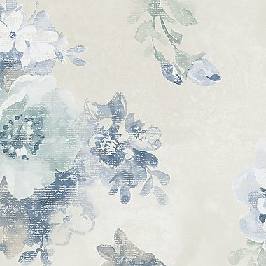 Norwall Wallcoverings Inc VIntage Damask 32.7' x 20.5'' Raised Ink Floral Wallpaper; Blue