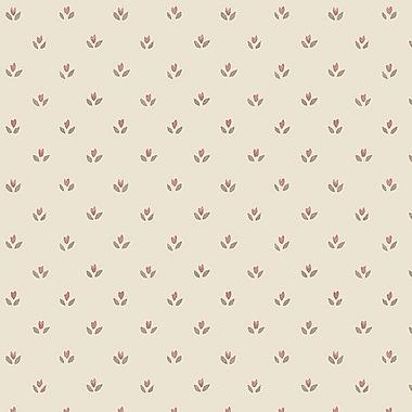 Norwall Wallcoverings Inc Fresh Kitchens V 32.7' x 20.5'' Mini Tulip Wallpaper; Pink / Beige / Cream