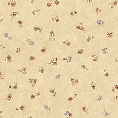 Norwall Wallcoverings Inc Floral Prints II 32.7' x 20.5'' Shabby Rose Buds Wallpaper