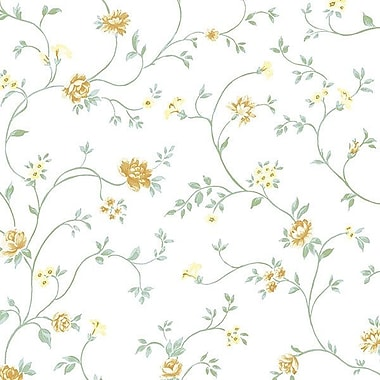 Norwall Wallcoverings Inc Pretty Prints IV 32.7' x 20.5'' Royal Trail Wallpaper; Green / Yellow