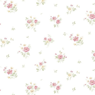 Norwall Wallcoverings Inc Pretty Prints IV 32.7' x 20.5'' Rainbow Floral Wallpaper; Yellow Pink