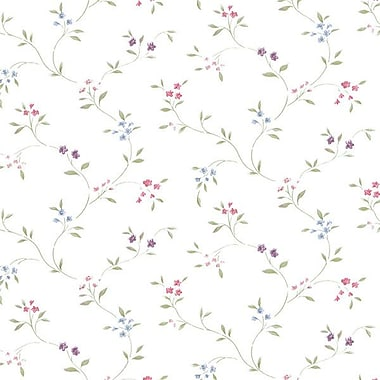 Norwall Wallcoverings Inc Floral Prints II 32.7' x 20.5'' Small Floral Trail Wallpaper