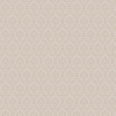 Norwall Wallcoverings Inc Simply Silks III 32.7' x 20.5'' Small Damask Wallpaper; Taupe