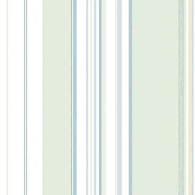 Norwall Wallcoverings Inc English Florals 32.7' x 20.5'' Multi Stripe Wallpaper