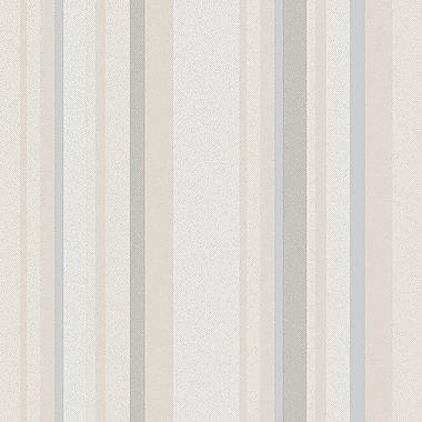 Norwall Wallcoverings Inc VIntage Damask 32.7' x 20.5'' Raised Stripe Wallpaper; Light Blue / Taupe