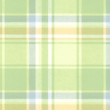 Norwall Wallcoverings Inc Kitchen Elements 32.7' x 20.5'' Plaid Wallpaper; Light Green / Tan