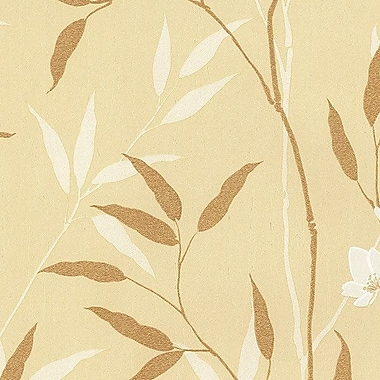 Norwall Wallcoverings Inc Silk Impressions 32.7' x 20.5'' In Reg Bamboo Leaves Wallpaper