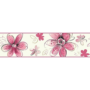 York Wallcoverings Brothers and Sisters V Bohemian Floral 15' x 6.75'' Children Border Wallpaper