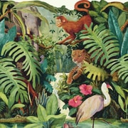 York Wallcoverings Brothers and Sisters V Jungle Scenic 15' x 23.88'' Tropical Borders Wallpaper