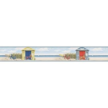 York Wallcoverings Border Portfolio II Beach Cruiser 15' x 6'' Scenic Border Wallpaper; Red/Blue