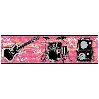 York Wallcoverings Growing Up Kids Jam Session Removable 0.5' x 1.5'' Wallpaper Border