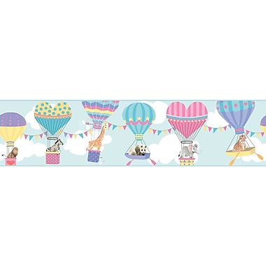 York Wallcoverings Growing Up Kids Lighter Than Air Removable 0.75' x 1.5'' Wallpaper Border