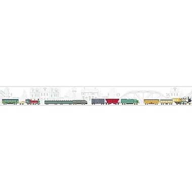 York Wallcoverings Growing Up Kids All Aboard! Removable 1.5' x 15'' Wallpaper Border