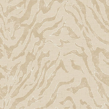 Norwall Wallcoverings Inc Textures IV 32.7' x 20.5'' Zebra Arden Wallpaper; Ochre