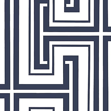 Norwall Wallcoverings Inc Shades 32.7' x 20.5'' Tease Wallpaper; Navy Blue