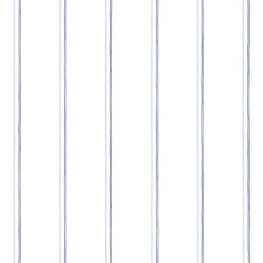 Norwall Wallcoverings Inc Pretty Prints IV 32.7' x 20.5'' Thin Stripe Wallpaper; Blue / Light Blue