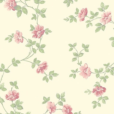 Norwall Wallcoverings Inc Pretty Prints IV 32.7' x 20.5'' Historic Rose Trail Wallpaper