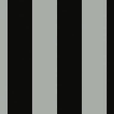 Norwall Wallcoverings Inc Shades 32.7' x 20.5'' Tent Stripe Wallpaper; Silver / Black