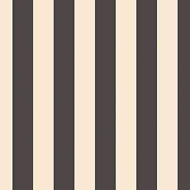 Norwall Wallcoverings Inc Shades 32.7' x 20.5'' Regency Stripe Wallpaper; Black / Beige