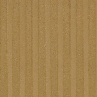 Norwall Wallcoverings Inc Silk Impressions 32.7' x 20.5'' Stripe Emboss Wallpaper Roll; Gold
