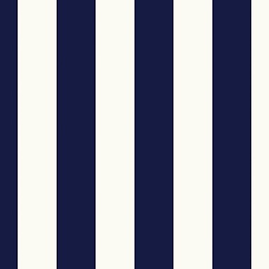 Norwall Wallcoverings Inc Simply Stripes II 32.7' x 20.5'' Tent Stripe Wallpaper; Navy Blue