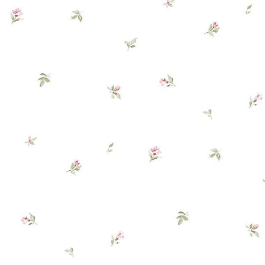 Norwall Wallcoverings Inc Abby Rose III 32.7' x 20.5'' Camille's Mini Wallpaper; Red / Green