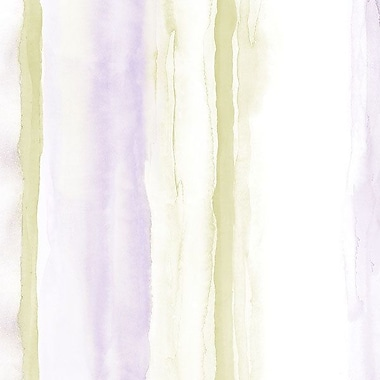 Norwall Wallcoverings Inc Paradise 32.7' x 20.5'' Beach Stripe Wallpaper; Purple / Green