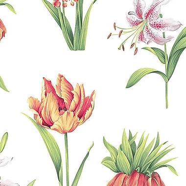 Norwall Wallcoverings Inc Paradise 32.7' x 20.5'' Botanical Floral Wallpaper; Yellow / Green / Coral