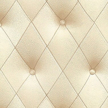 Norwall Wallcoverings Inc Illusions 32.7' x 20.5'' Button Back Texture Wallpaper; Beige