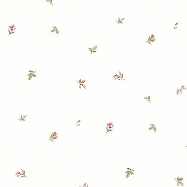 Norwall Wallcoverings Inc Pretty Prints IV 32.7' x 20.5'' Camille's Mini Wallpaper; Coral / Green