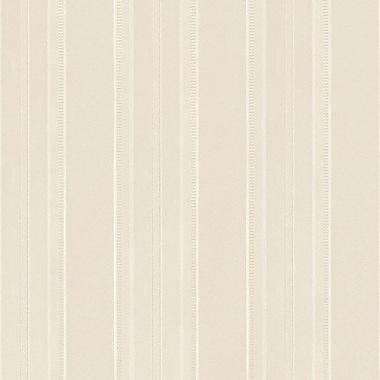 Norwall Wallcoverings Inc Silk Impressions 32.7' x 20.5'' Classic Stripe Emboss Wallpaper; Cream