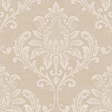 Norwall Wallcoverings Inc Vintage Damask 32.7' x 20.5'' Feathered Wallpaper Roll; Beige
