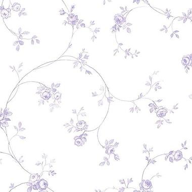Norwall Wallcoverings Inc Floral Prints II 32.7' x 20.5'' Delft Rose Wallpaper; Purple