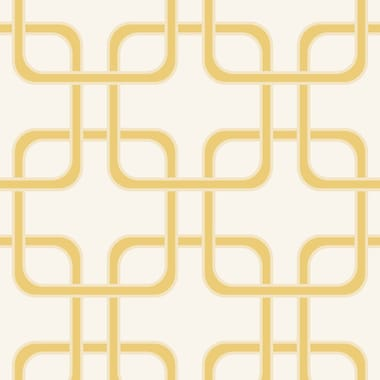 Swag Paper Cubix Geometric Panel 102'' H x 26'' W Wallpaper; Gold Rush