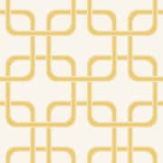 Swag Paper Cubix Geometric Panel 54'' H x 26'' W Wallpaper; Gold Rush