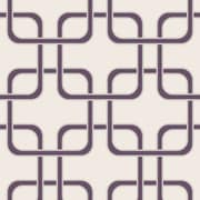 Swag Paper Cubix Geometric Panel 78'' H x 26'' W Wallpaper; Mauve
