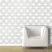 Swag Paper Cubix Geometric Panel 78'' H x 26'' W Wallpaper; Pebble