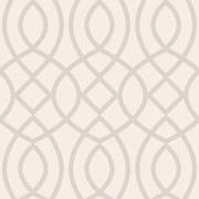 Swag Paper Trellis Woven Geometric Panel 102'' H x 26'' W Wallpaper; Beige